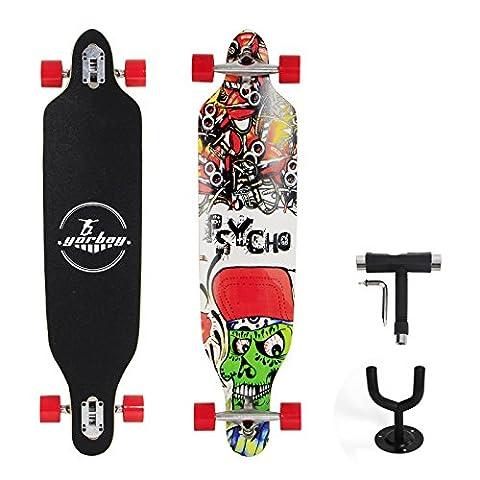 Yorbay® Skateboard Longboard en bois d