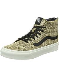Vans Unisex Sk8-Hi Slim Zip Sneaker-Galaxy Floral Black Tan 7 B(M) US Women / 5.5 D(M) US Men