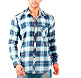Wajbee Men's 100% Cotton Casual Shirt-XL