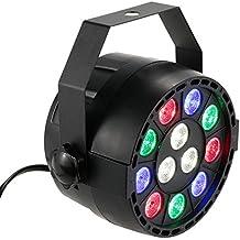 Lixada DMX-512 12 LED - Luz de Escenario Espectroscópico Profesional LED Luces, 8 Canales RGBW