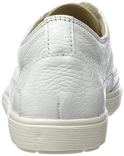 Caprice 23655, Sneakers Basses Femme Blanc (White Deer)