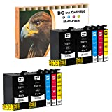 D&C 10er Set (B/C/M/Y) Tintenpatronen Druckerpatronen (nicht original) für Epson WorkForce WF-3600 Series, WF-3620 DWF, WF-3620 WF, WF-3640 DTWF, WF-7110 DTW, WF-7600 Series, WF-7610 DWF, WF-7620 DTWF