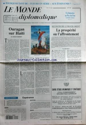 MONDE DIPLOMATIQUE (LE) [No 485] du 31/08/1994