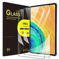 واقي شاشة IVSO لهاتف Huawei MatePad Pro 10.8، واقي شاشة فليم زجاجي شفاف لهاتف Huawei MatePad Pro 10.8 بوصة، 2 حزمة