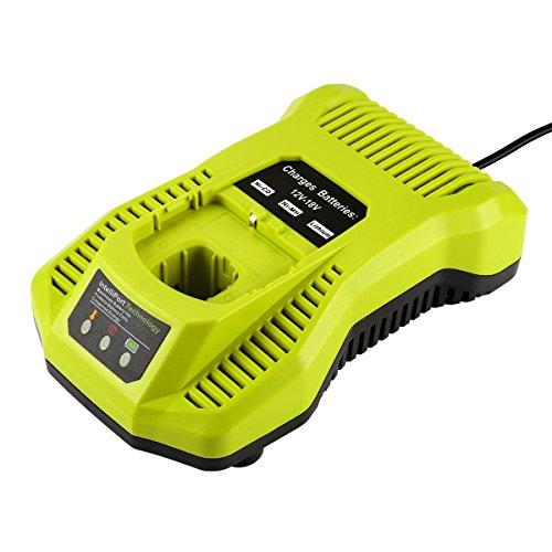 Preisvergleich Produktbild Energup Ersatz Ladegerät für Ryobi ONE+ 12V~18V Akku Ryobi ONE+ P104 P105 P102 P103 P107 P108 (Kompatibel mit 260051002 P117 P118 P113 BCL1418)