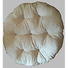 Rattan im Trend Coussin de fauteuil papasan Gris 120 cm