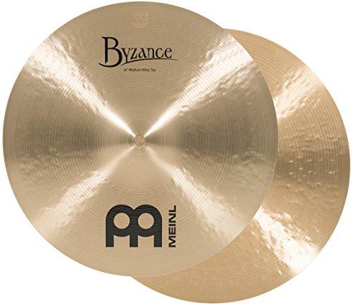 Meinl Cymbals B14MH Byzance Traditional Serie 35,6 cm (14 Zoll) Medium Hihat Becken Traditional Finish Handgehämmert (Paar)