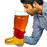 bar@drinkstuff Bierglas, in Stiefelform, sehr groß, circa 2,8l - 6