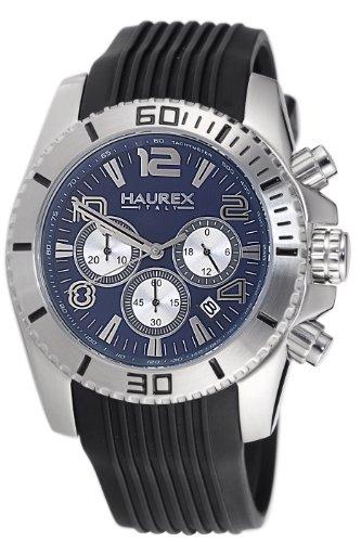 Haurex Italy 3A351UB1 Mens Aggressive Chronograph Blue Dial Watch