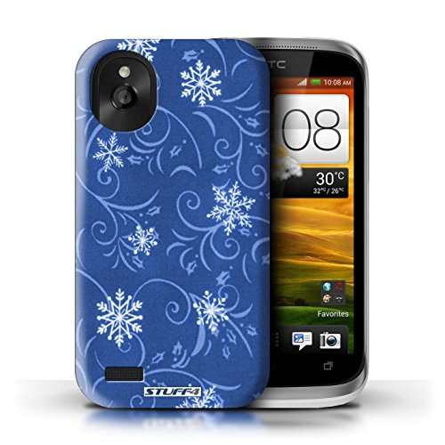 Kobalt® Imprimé Etui / Coque pour HTC Desire X / Bleu conception / Série Motif flocon de neige Bleu
