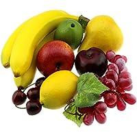 Moving Box artificial de Apple Brin plátano uva Limón Melocotón decorativo Decoración de la fruta de la falsificación