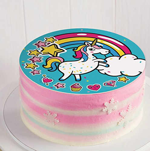 Decoración para tortas Unicornio