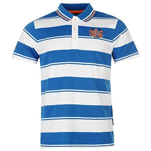 Everlast Yarn Dye Bold Stripe Herren Polo T Shirt Kurzarm Freizeit Polohemd Tee Black/Char