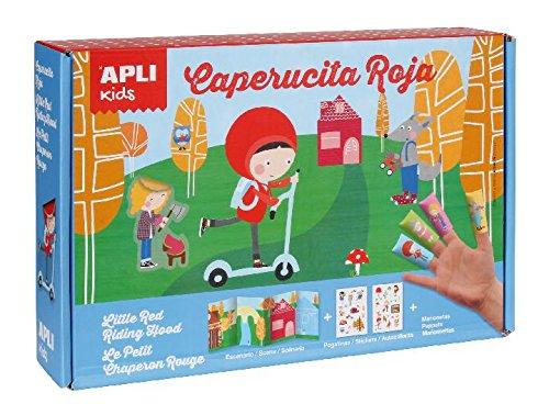 Apli APLI14112scenario Magic Cappuccetto Rosso adesivo a forma di gioco con etichetta - Fisher Price Fogli