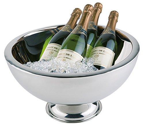 Professionnel Champagne eraus acier inoxydable poli isotherme double paroi pour une meilleure isolation/Ø haut/bas 44/25 cm, hauteur : 24 cm, capacité : 10,5 L | Sun