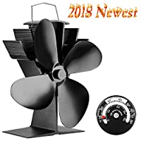 Silent Operation 4-Blade Heat Powered Stove Fan for Wood/Log Burner/Fireplace - Eco Friendly 10