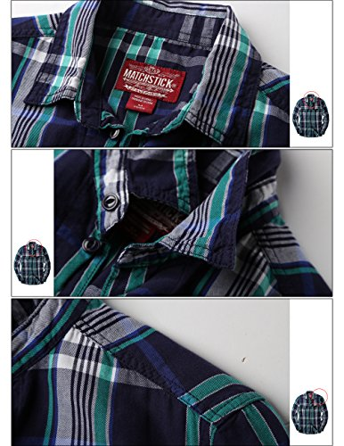 Match Herren Casual Kariert Shirt #G2218 Red Grid