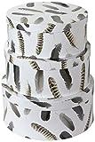 Arthouse Federn Aufbewahrungsboxen rund, Heavy Duty Pappe beschichtet, neutral, 41x 41x 17,2cm