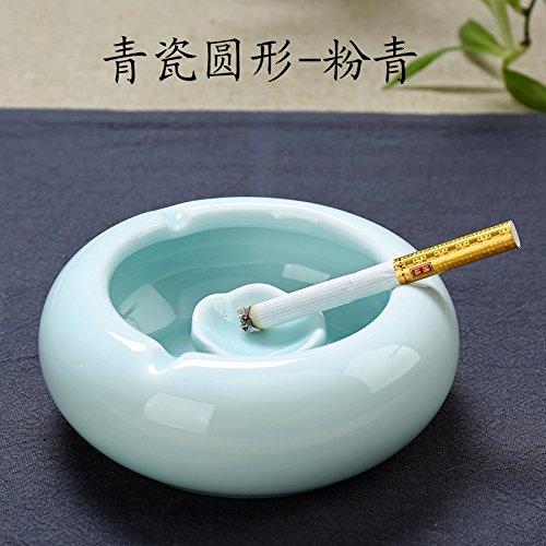 Wohnzimmer Schwingen (Znzbzt Aschenbecher kreative große Billard snooker Keramik schwingen in einem stilvollen personalisierte Schwingen im Wohnzimmer, Porzellan Aschenbecher rund - Pulver blau)