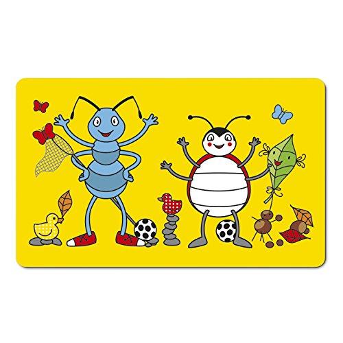 Emsa 509714 Brettchen für Kinder, Ameisen Motiv, 23.5 x 14.5 cm, Gelb/Bunt, Anton Ant