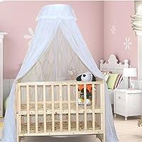 Luxuriöse Spitze Baby Moskitonetz Dome für Krippen Bett Baby Netting Baldachin Vorhänge mit Halterung Kann Aufzug Schnelle und Einfache Installation Ultra Feinmaschigen Schutz Keine Chemikalien