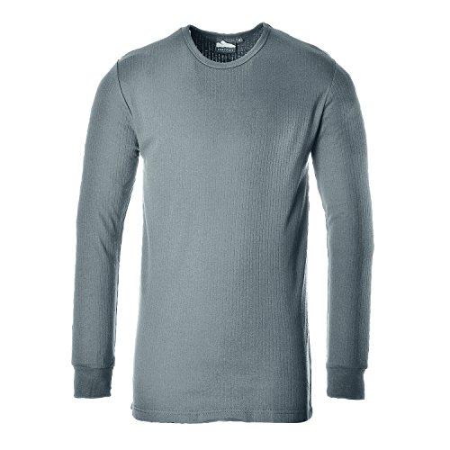 PORTWEST B123 Thermal T-Shirt Long Sleeve Sky Blue B123SB-RS grau