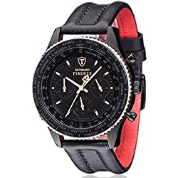 DeTomaso Men's Quartz Watch Chronograph Display and Leather Strap SL1624C-BR