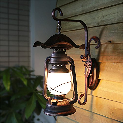 BOOTU Bougeoir LED et descendre appliques Allée Rural appliques lampes antiques, lampes à kérosène anciens couloirs cour décorées de meubles muraux /23x46cm