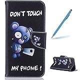 Trumpshop Smartphone Case Coque Housse Etui de Protection pour Samsung Galaxy A5 (2016) SM-A510 [Don't Touch My Phone (couteau)] Mode Portefeuille PU Cuir Avec Fonction Support Anti-Chocs