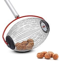 kaersishop Collecteur de Fruits, ramasse-Noix et ramasseur de Noix, Outil à Long Manche pour vergers familiaux, Collecte de balles de Tennis