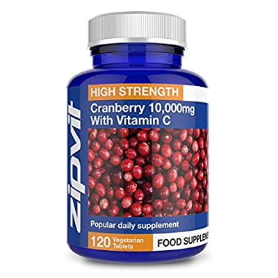 Cranberry Extract 10000mg, Pack of 120 Tablets, by Zipvit Vitamins Minerals & Supplements from Zipvit