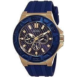 Guess W0674G2 - Reloj de Pulsera Hombre, Silicona, Color Azul