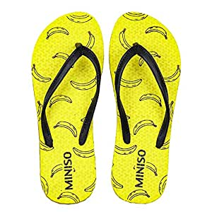 MINISO Fashion Women's Flip-Flops(Banana,UK5)
