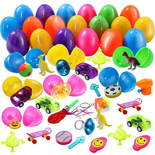 Twister.CK Uova di Pasqua Giocattoli riempiti per i più Piccoli, 36 Pezzi Uova di Pasqua Colorate Brillanti per Bambini Giocattoli Pinata, Giochi di società