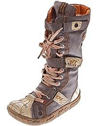 Bottes d'hiver en cuir Comfort pour Femme TMA-17086N Chaussures NOIR Bottes FEMME doublé