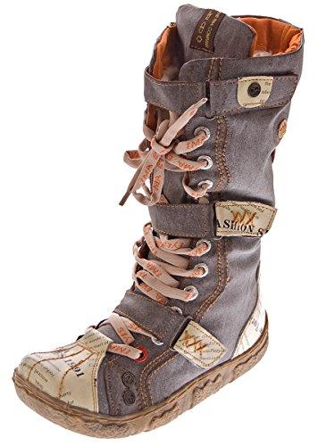 Damen Leder Winter Comfort Stiefel TMA 7086-N echt Leder Schuhe viele Farben Damenstiefel gefüttert Braun