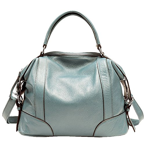 Mena UK Borse in pelle e borse in pelle designer Borse da tasca della borsa della spalla della chiusura lampo Lake blue