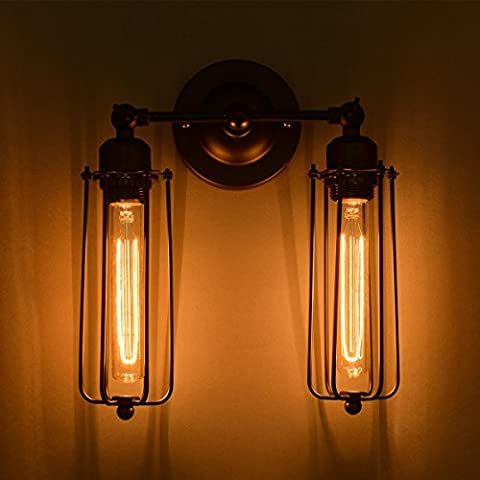Village de style industriel américain black metal wall lamp retro lampe murale en fer forgé européenne nordique antique fashion cafe bar wall lamp wall lamp loft moderne minimaliste creative industries