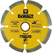 DeWalt Diamond wheel marble/granite 230 x 22.23mm laser segmented blades / marble and granite , Yellow/Black,