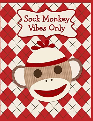 : A Cute & Classic Sock Monkey Face Fun Notebook To Write In ()