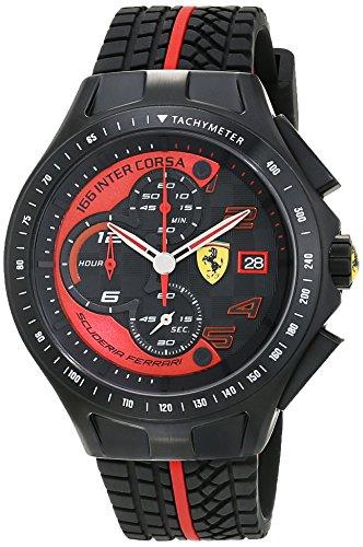 Ferrari 0830077- Reloj analógico de pulsera para hombre, correa de si