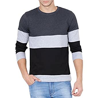 style shell men 39 s tri colour full sleeve cotton t shirt clothing accessories. Black Bedroom Furniture Sets. Home Design Ideas
