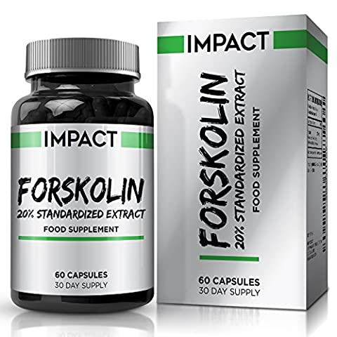 Forskolin 250mg - Pure Active Forskolin - Coleus Forskohlii Root Extract - Suitable for Vegetarians - 60 Capsules (1 Month Supply) by Earths