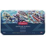 Derwent 2301980 Inktense Permanent Watercolour Blocks, Multi-Colour, Set of 72