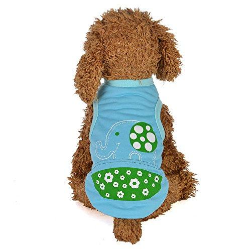 EUZeo Lovely Animals Cartoon Printed Weste Hundekostüme Hundebekleidung Haustier Katze Hund Pullover T-Shirt Hündchen Hundebekleidung Welpen Kleidung Weste für Dog Cat Hundepullover Hundeshirts