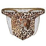 Freebily Tanga de Patrón Leopardo Taparrabo G-String Thong para Hombres Ropa Interior Disfraz de Selva para Fiesta Carnaval Ceremonia Marrón Medium