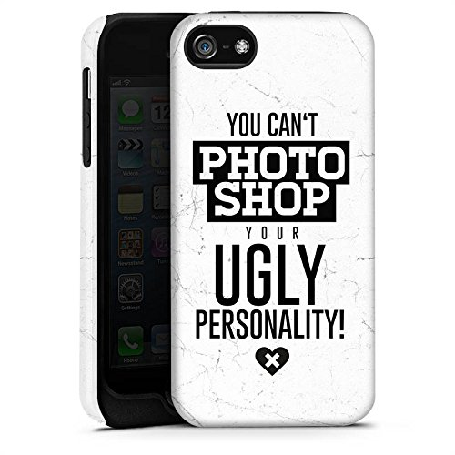 Apple iPhone X Silikon Hülle Case Schutzhülle Persönlichkeit Sprüche Humor Tough Case matt