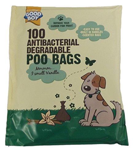 Duft, Antibakteriell (Armitage Good Boy antibakterielle Hundekotbeutel, biologisch abbaubar, mit Duft, 100Stück)