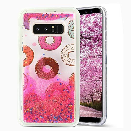 Samsung Note 8 Liquid Glitter Design Snap Case Schutzhülle, Donuts Design Snap Case