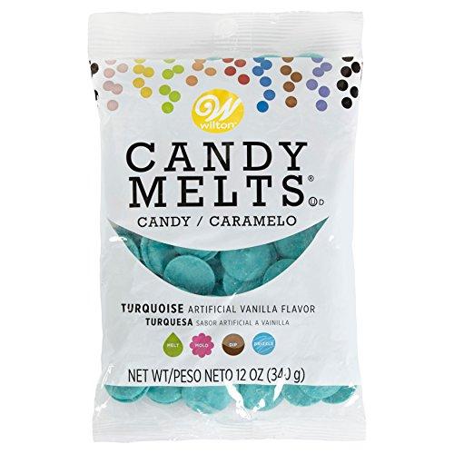Wilton Candy Melts türkis, 1er Pack (1 x 340 g)